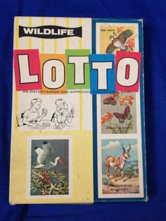 Vintage Wildlife Lotto Approved Educational Game National Wildlife Fdn 1952