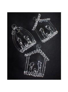 Glass Nativity Set 3 @ rosefields.co.uk