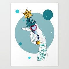 Collect your choice of gallery quality Giclée, or fine art prints custom trimmed by hand in a variety of sizes with a white border for framing. Sailor Moon Manga, Sailor Neptune, Sailor Uranus, Sailor Moon Art, Sailor Scouts, Time Tattoos, Moon Lovers, Magical Girl, Stars And Moon