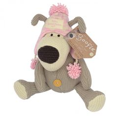 Boofle medium plush in pink winter hat extra special person Boofle Bear, Teddy Bear, Valentine Day Gifts, Valentines, Holly Hobbie, Special Person, Vintage Books, Make Me Smile, Winter Hats