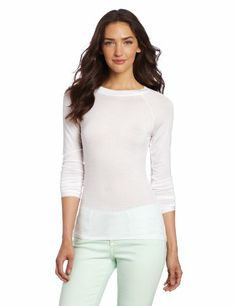 Calvin Klein Women's Layering Tees Long Sleeve T-shirt, White, Small Calvin Klein,http://www.amazon.com/dp/B00BNIBQ0Q/ref=cm_sw_r_pi_dp_j-Vqtb03XAVAEKD1