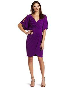 Suzi Chin Women's Faux Wrap Dress