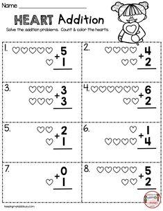 February Math Ela Pack Freebies February Math Ela Pack Freebies Teaching In February Can Be So Fun V Kindergarten Addition Worksheets, Kindergarten Math Activities, Preschool Math, Kindergarten Worksheets, Kindergarten Classroom, Kindergarten Special Education, Preschool Sight Words, Addition Activities, Money Worksheets