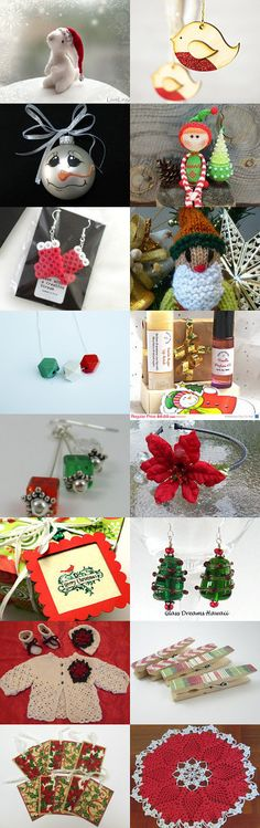 It's beginning to look a lot like...well, you know. by Karen Relfe on Etsy--Pinned with TreasuryPin.com we're getting ready for Christmas with a 1 day sale on November 8th (12 AM - Midnight EST) at the Handmade Forum. Use Coupon code SALE2014 at over 39 handmade shops, and Happy Holidays.