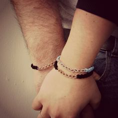 His and Hers black leather and Gold bracelet RitaSunderland.com