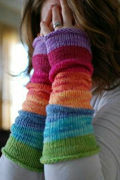 Wristwarmers.....I like this.   Find an old wool sweater, felt it.