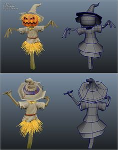 Low Poly Scare Crow by BITGEM This package contains a low poly scare crow with hand painted textures that is ready to be dropped into any game project. No share Modelos Low Poly, Modelos 3d, Prop Design, 3d Design, Character Art, Character Design, Hand Painted Textures, Game Props, Low Poly Models