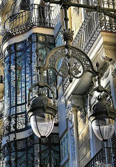 love-spain:Barcelona, art de architecture unique arts via: Architecture Unique, Architecture Art Nouveau, Barcelona Architecture, French Architecture, Facade Architecture, Beautiful Buildings, Beautiful Places, House Beautiful, Amazing Places