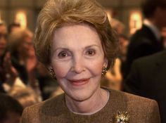 Former First Lady Nancy Reagan dies at 94. Nancy Davis Reagan was an actress and the wife of the 40th President of the United States, Ronald Reagan. She was the First Lady of the United States from 1981 to 1989. She was born in New York City.