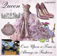 """Disney Style: Queen"" by trulygirlygirl ❤ liked on Polyvore"
