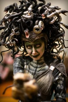 Angie Hill Medusa costume, so awesome looking
