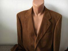 Emidio Tucci 100% Cashmere Men Size 54 Suit Coat  Brown El Corte Ingles England #EmidioTucci #SuitCoat
