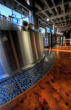 Boulevard Brewery Expansion - Terrazzo Rings for Brewing Tanks, Furniture, Reception Desks