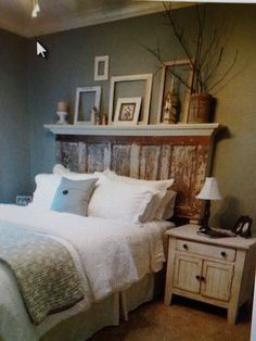 re-purposed door- headboard | DIY/Repurposing (Furniture)
