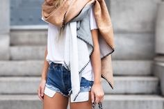 Love This Neutral Scarf Perfect For Transitions From Spring to Summer. Or Whichever Season.