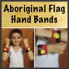 A Mish Mash of Arts, Crafts and Play Activities.: Aboriginal Flag Hand Bands by Sharron Australia Day Aboriginal, Naidoc Week Activities, Aboriginal Flag, Indigenous Education, Crafts For Kids, Arts And Crafts, Toddler Art, Mish Mash, Lets Celebrate
