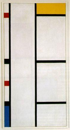 Piet Mondrian. Composition No. III Blanc-Jaune 1935-42.