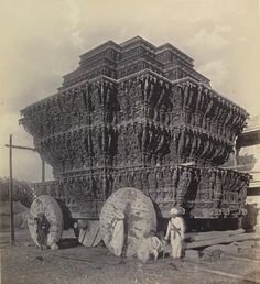 wherearchitectureisfun:  lich-tung:  hinducosmos:  RATHAM - SRI VILLI PUTTHUR (Tamil Nadu ) - Tahun 1868 (via MHDM Labu Arulnilayam) Temple cars are chariots used to carry representations of Hindu gods. The car is usually used on festival days called Ther Thiruvizha (தேர் திருவிழா) usually happens once in a year, where many people gathered around the temple and pull the cart. Thiruvarur, Srivilliputhur, Tirunelveli in Tamil Nadu and Puri, in Odisha, host some of the largest annual temple…