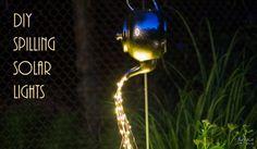 DIY Spilling Solar Lights {Teapot Lights}