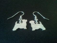 sterling silver westie dog head drop earrings x Westie Dog, Westies, Metals, Dog Breeds, Pendants, Drop Earrings, Sterling Silver, Dogs, Handmade