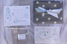 """The Greek letter """"Θ"""" inspired Chirography to design and produce a very special baptism stationary suite. """"Θ""""odoris will always be the Saturn in our design solar system! Baptism Invitations, Solar System, Event Design, Stationary, Greek, Gift Wrapping, Lettering, Inspired, Gifts"""