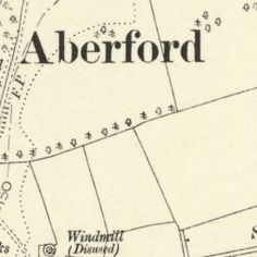 Detailed Old Victorian Ordnance Survey 6 inch to 1 mile Old Map (1888-1913) , Aberford, West Yorkshire Co-ordinates 53.827493, -1.348203