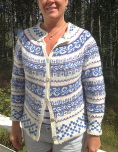 Ravelry: Hegececiliekleven's Haukeli kofte Knitting Designs, Knitting Projects, Knitting Patterns, Nordic Sweater, Men Sweater, Norwegian Knitting, Knitting Stiches, Fair Isles, Ravelry