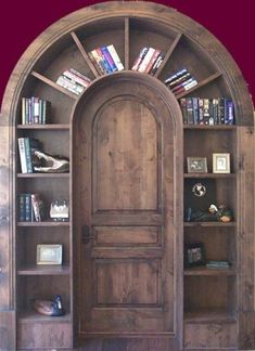 Totally want a special door like this in my house! ! diy bookcase from old dressed drawers For the Home