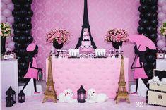 No photo description available. Paris Themed Birthday Party, Barbie Birthday Party, 10th Birthday Parties, Barbie Party, Birthday Party Themes, Paris Baby Shower, Chanel Party, Quinceanera Party, Tour Eiffel