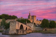 Avignon - the papal Palace About two and a sunset 10