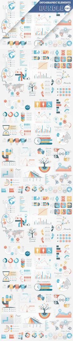 40% OFF Infographic Elements Bundle. Business Infographic. $16.00