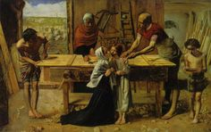 "Millais, ""Christ in the Carpenter's Shop"". A print of this hung in my parents' bedroom for as long as I can remember."