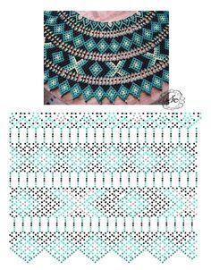 Дыхание Бисера's photos Diy Necklace Patterns, Bead Loom Patterns, Beaded Jewelry Patterns, Beading Patterns, Beading Tutorials, Seed Bead Jewelry, Bead Jewellery, Beaded Collar, Beads And Wire
