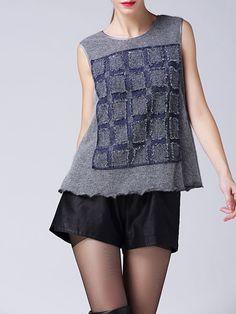 Paneled Wool blend Top