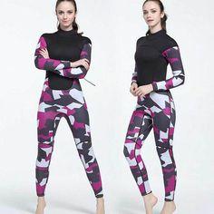 3MM Ladies Neoprene Camo Wetsuit Camouflage Diving Surfing Suit for Women