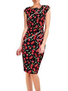 Buttons Novel Collar Zipper Bodycon Dress Plus Size Dresses For Women on buytrends.com