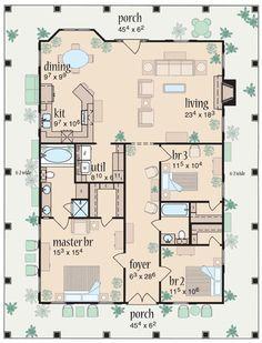 Plan 24046BG: Florida Cracker Style | Pinterest | House, Future and ...