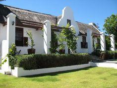 Cape Dutch grace in Somerset West Dutch Colonial Exterior, Cottage Exterior, Cape Colony, Facade House, House Facades, House Floor, Cape Dutch, Somerset West, Caribbean Homes