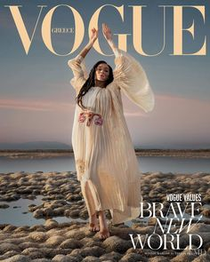 Winnie Harlow channels her Greek goddess heritage in Gucci's 2020 Cruise collection lensed by Vasilis Kekatos for Vogue Greece's February Vogue Covers, Vogue Magazine Covers, Fashion Magazine Cover, Fashion Cover, Daily Fashion, Vogue Uk, Vogue Spain, Vogue Russia, Vogue India