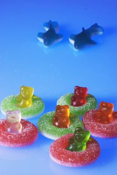 Gum-Bears in sour rings not safe from the incoming fingers and sharks