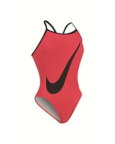 Women's Swimwear Bodysuits - Nike Big Swoosh Lingerie Tank Swimsuit Womens 34 BrightCrimson ** You can get more details by clicking on the image.