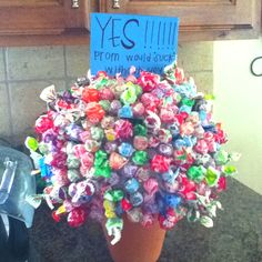 Even though this is a prom answer i think it would be super cute as a way to ask your crush anything!!!!!!:)