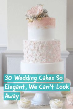 Wedding Cakes So Elegant, We Can't Look Away If you're in need of some wedding cake design ideas, click through to find the perfect wedding cake. Diy Wedding Cake, Wedding Cake Decorations, Wedding Topper, Elegant Wedding Cakes, Beautiful Wedding Cakes, Gorgeous Cakes, Wedding Cake Designs, Amazing Cakes, Perfect Wedding