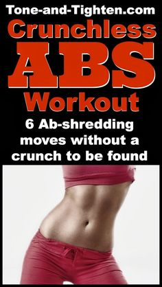 Killer core workout without a single crunch! On Tone-and-Tighten.com. #abs #workout