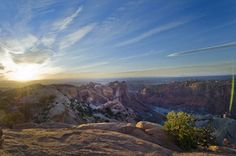 UTAH, USA – Sunset in Canyonlands. It's almost bigger than the eye can see.