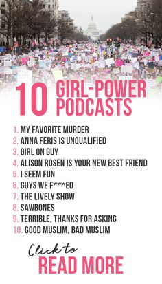 These 10 girl power podcasts will inspire you and entertain! Click here to read my top podcast recs!