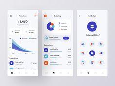 Personal Financial Manager - Mobile App by Farhan Fauzan on Dribbble Dashboard Design, App Ui Design, Mobile App Design, Web Design, Interface Design, Logo Design, Planning App, Mobile App Ui, Management