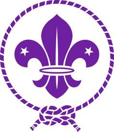 (OMMS), Organización Mundial del Movimiento Scout  o World Organization of the Scout Movement (WOSM): Emblem.