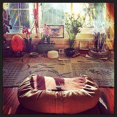 plants in meditation room! light! window!