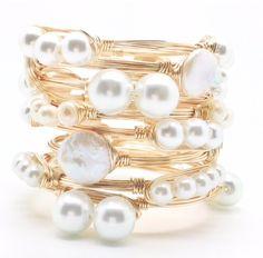 Pearl bracelets.